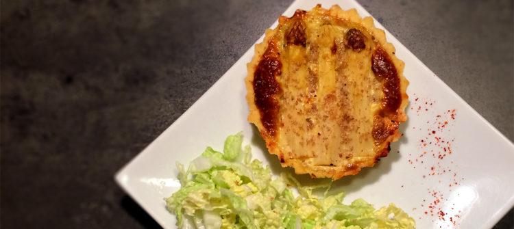 Recette diététique de tarte aux asperges et à la truite saumonée