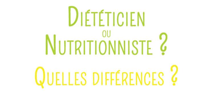 Différence entre un diététicien et un nutritionniste